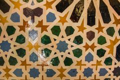 Mosaics of antique Arabic tiles of ancient colors. Mosaics of ancient Arabian tiles of varied colors Royalty Free Stock Image