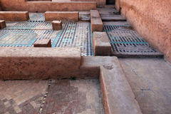 Mosaics in an ancient building in Morocco Royalty Free Stock Images