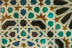 Mosaics of antique Arabic tiles of ancient colors. Mosaics of ancient Arabian tiles of varied colors Stock Images