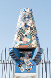Mosaics Antonio Gaudi royalty free stock photo