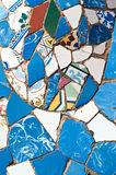 Mosaics Antonio Gaudi stock photo