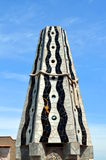 Mosaics of Antonio Gaudi Palau Guell. Mosaics of Antonio Gaudi in Palau Guell royalty free stock photos