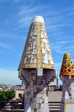 Mosaics of Antonio Gaudi Palau Guell. Barcelona, Spain, May 07, 2015 Mosaics in Palau Guell that is a mansion designed by the architect Antoni Gaudí for the stock images
