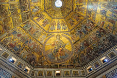 Mosaics of the Baptistery - Florence Royalty Free Stock Photos