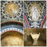 Mosaics of The Baptistry of Neon Royalty Free Stock Photo