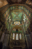 Mosaics of Basilica of San Vitale, Ravenna, Italy Royalty Free Stock Photos