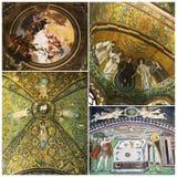 Mosaics The Basilica of San Vitale Stock Photography