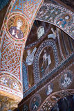 Mosaics from Cappella Palatina. The Palatine Chapel in the Norma stock photo
