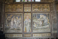 Mosaics in the Cathedral or Minster in Chester England Stock Photo