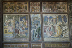 Mosaics in the Cathedral or Minster in Chester England Royalty Free Stock Photos