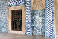 Mosaics covering the outside walls Stock Photo