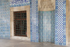 Mosaics covering the outside walls Royalty Free Stock Photography