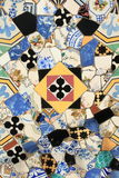 Mosaics decoration at Palau Guell Stock Photography