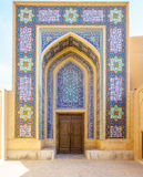 Mosaics of Entrance of Jame Mosque of Yazd In iran. View on Mosaics of Entrance of Jame Mosque of Yazd in Iran Stock Photo