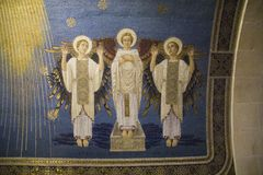 Mosaics Fragments in Transfiguration Church, Israel. Royalty Free Stock Image