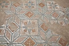 Mosaics at The Great Baths in Dion Royalty Free Stock Photography