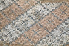 Mosaics at The Great Baths in Dion Royalty Free Stock Photos