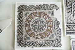 Mosaics from Helicarnassus exibited in British Miseum Royalty Free Stock Photography