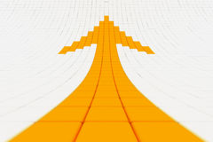 Mosaics orange arrow pointing upwards Stock Photos