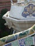Mosaics, Parc Guell ( Barcelona ) Royalty Free Stock Photos