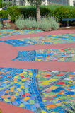 Mosaics in Park Stock Images