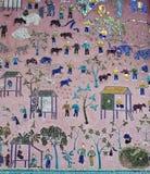 Mosaics at Red chapel at Wat Xieng Thong temple Royalty Free Stock Images
