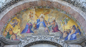 Mosaics of San Marco Cathedral. Venice. Italy Royalty Free Stock Photos