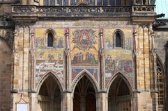 Mosaics in St. Vitus Cathedral in Prague Royalty Free Stock Photo