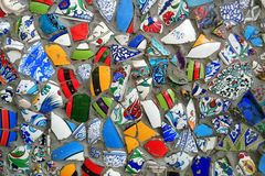 Mosaics on the wall of a building. Travel to Istanbul, Turkey. Mosaics on the wall of a building stock photography
