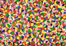Mosaics from watercolor Stock Image