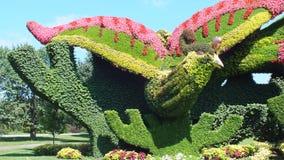 MOSAICULTURES-INTERNATIONAL 2013 i Montreal, Quebec, Kanada, Peking, Kina, tillträde: Plantera platan för att tilldra Phoenixen royaltyfri foto