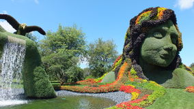 MOSAICULTURES INTERNATIONAL 2013, MONTREAL BOTANICAL GARDEN, Montreal, Quebec, Canada.  Canadian entry: Mother Earth. MOSAICULTURES INTERNATIONAL 2013 took place Royalty Free Stock Photo