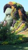 MOSAICULTURES-INTERNATIONAL 2013, MONTREAL BOTANISK TRÄDGÅRD, Montreal, Quebec, Kanada Kanadensiskt tillträde: Moderjord Royaltyfri Bild