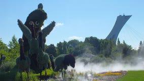 MOSAICULTURES INTERNATIONALE 2013, de BOTANISCHE TUIN van MONTREAL, de ingang van Montreal, Shanghai, China: Een Waar Verhaal Stock Afbeeldingen