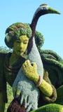 MOSAICULTURES zawody międzynarodowi 2013, MONTREAL ogród botaniczny, Montreal, Quebec Szanghaj, Porcelanowy wejście: Prawdziwa op obrazy royalty free