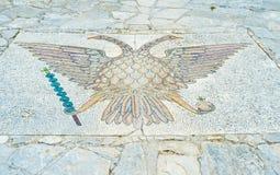 Mosaik auf dem Boden Lizenzfreies Stockbild