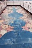 Mosaik auf dem Boden nahe dem Jawab Taj Mahal lizenzfreies stockbild