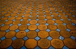 Mosaik auf Fußboden Stockfotos