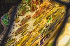 Mosaik av Antoni Gaudà fotografering för bildbyråer