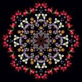 Mosaik av blommor Arkivbilder