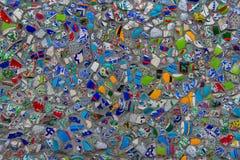 Mosaik av den brutna tegelplattaväggen i Istanbul Royaltyfri Fotografi