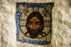 Mosaik av Jesus Christ i den ortodoxa kloster Royaltyfri Fotografi