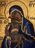Mosaik av jungfruliga Mary och Jesus Christ Royaltyfri Fotografi