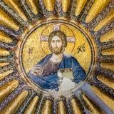 Mosaik av Kristus Pantocrator Arkivbilder