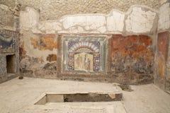 Mosaik av Neptun och Amphitrite, hus av Neptunmosaiken, Herculaneum royaltyfri foto
