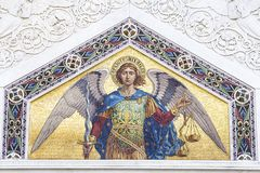 Mosaik av St Michael royaltyfri foto