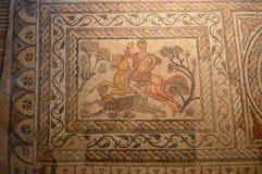 Mosaik bei Roman Museum, Museo Nacional De Arte Romano Merida, Spanien lizenzfreie stockfotos