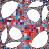 Mosaik-bunter städtischer geometrische Struktur-Vektor Stockfoto