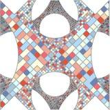 Mosaik-bunter städtischer geometrische Struktur-Vektor Lizenzfreie Stockfotos
