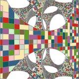 Mosaik-bunter städtischer geometrische Struktur-Vektor Stockbild